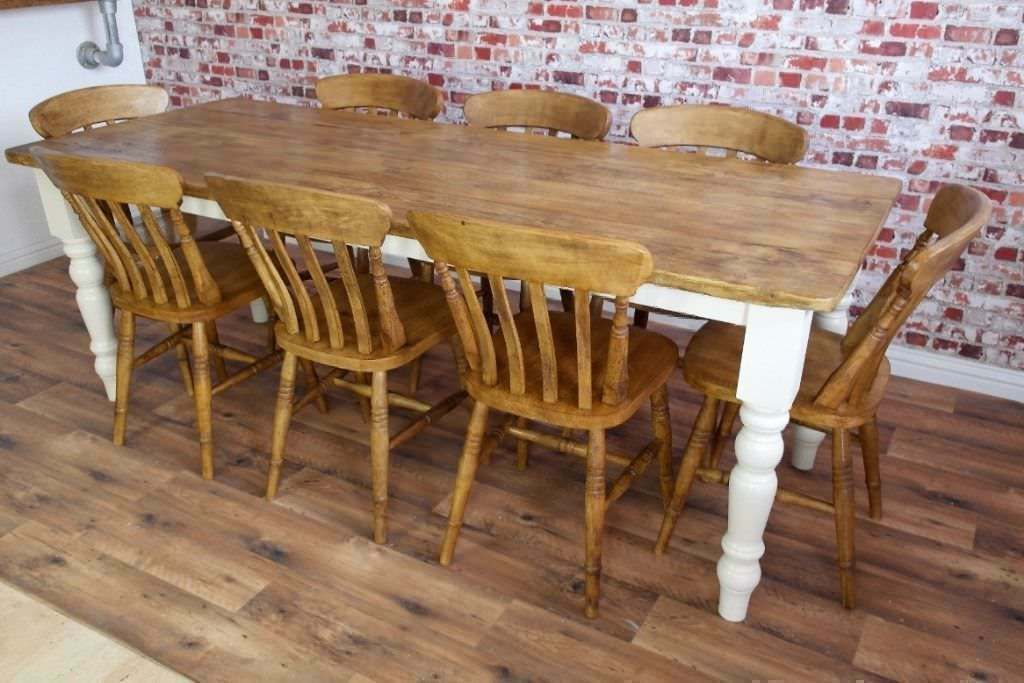 Rustic Farmhouse Reclaimed Wood Kitchen Dining Table Set