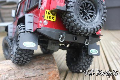 Rear Real Rubber Mud Flaps for Traxxas TRX-4 Landrover D110 Scale Crawler