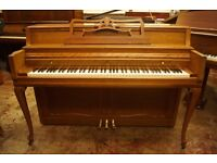 Wurlitzer console upright piano in walnut - Tuned & UK delivery available