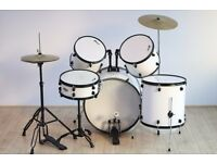 White and Black Drumkit - Christmas Present, barely used!