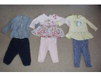 Girl's Mixed Long-Sleeve Outfit Bundle x3 (6-9 months)