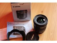 Canon EF-S 10-18mm f/4.5 5.6 IS STM Lens + Lens Hood - Mint Condition - Boxed As-New