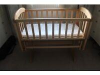 John Lewis Glider Crib with new Mattress