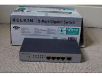 Belkin 5 port Gigabit Switch