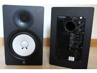 Yamaha HS80M Studio Reference Monitors (PAIR) + Quiklok BS342 Straight Monitor Stands