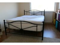 Double bed frame in black