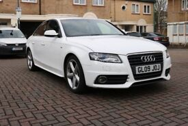 AUDI A4 1.8T TSFI S LINE 4 DOOR SALOON HPI CLEAR WHITE EXCELLENT CONDITION