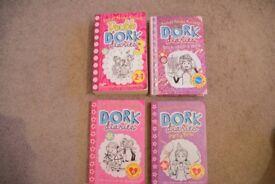 Dork Diaries books Set of 4