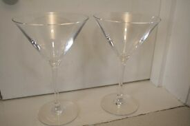 2x Martini/Cocktail Glasses