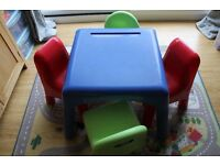 Early Learning Centre Table and Four Chairs