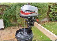 OUTBOARD MOTOR mariner 4hp 4 stroke very little use