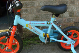 Childs as new first or balance bike Jolly Roger with stabillisers suit a 3 to 5 year old approx