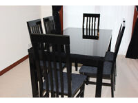 Dining Table & Chairs, Sideboard and Mirror