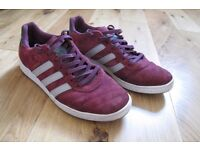 Adidas Etrusco burgundy trainers UK sz10