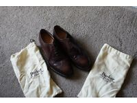 barker brown brogue shoe Size 8 1/2