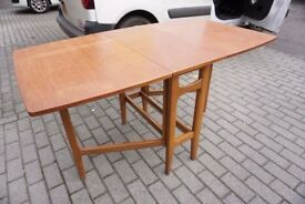 Mid Century Retro Teak Drop-Leaf Dining Table DELIVERY AVAILABLE