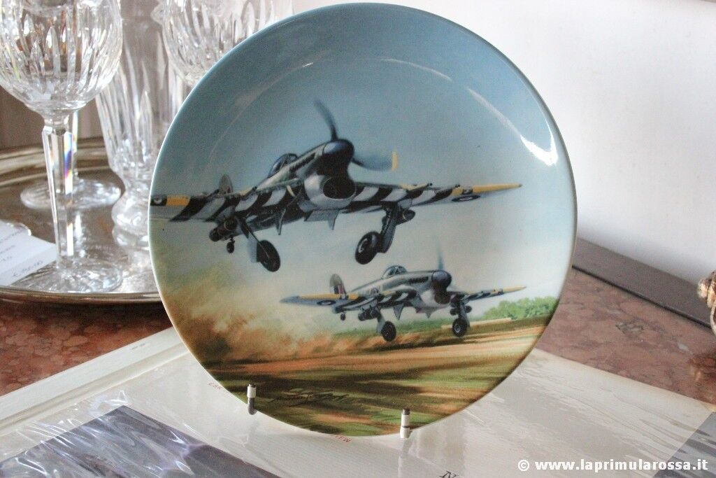 PIATTO COALPORT VINTAGE IN PORCELLANA serie TAKE - OFF AIR FORCE INGLESE 1991