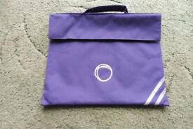Purple Oasis Academy New Oak school Book bag messenger bag