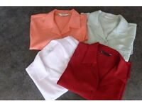 Four Ladies short sleeved polyester Shirt/Blouses