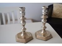 2 Silver Candle stick holders