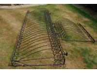 Wrought iron balustrade from balcony good for garden patio etc