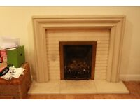 Modern Goppastone Fireplace with Everflame Coal Fire £70