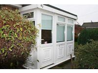 White UPVC Double Glazed Porch