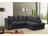 50% DISCOUNTED OFFER!NEW DYLAN JUMBO CORD CORNER SOFA OR 3 AND 2 SEATER SOFA SET -- VERY CHEAP PRICE