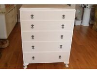1950's solid chest of drawers