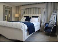 Stunning Handmade Kingsize Sleigh Style Bedframe