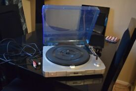 TEVION 3 SPEED USB AUTO RECORD PLAYER WITH USB CABLE