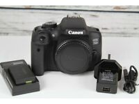 Canon 750d body, battery and usb charger, shutter count under 4000