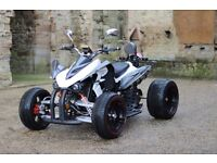 NEW 2016 250CC WHITE ROAD LEGAL QUAD BIKE ASSEMBLED IN UK- 66 PLATE OUT SOON, FREE NEXT DAY DELIVERY