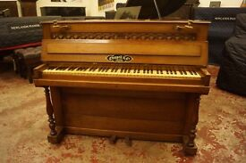 Small Chappell upright antique piano - Delivery available UK, Europe or World wide.