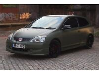 Honda Civic Type-R, Military Green, Leather Seats, Air Con