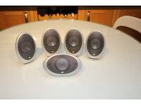 Kef home cinema speaker system (Model - HTS 1001)- High qualty alloy shell