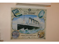 Titanic - White Star Liner - Metal Vinolia Soap Advert Sign