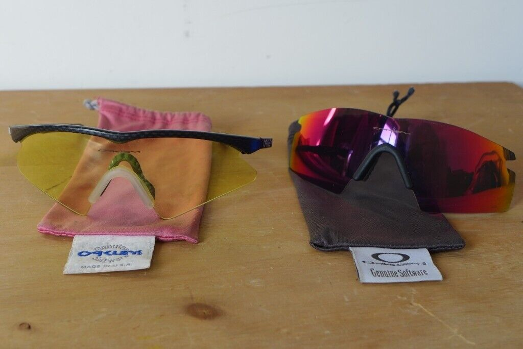 7d846a25d8c Vintage 1990s OAKLEY Sunglasses. M Frame. USA made. PLUS  spare interchangeable Lens in another shade