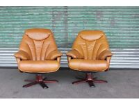Quality ,Scandinavian ,vintage leather recliners. Made in Denmark