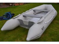 3,2m inflatable dinghy with outboard