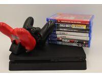 Sony Playstation 4 (500GB) Bundle - 2 Controllers - 7 Games