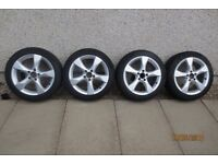 GENUINE MERCEDES BENZ 17 INCH ALLOY WHEELS WITH GOOD CONTINENTAL WINTER TYRES