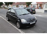 BLACK TOYOTA YARIS 2001 SR 1.3 - 3 Previous Owners - Private Number Plate