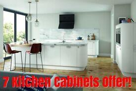 Vivo Matt 18 mm Thick Slab Door, 7 Kitchen Cabinets Offer - New - BEST PRICE By Krypton Kitchens