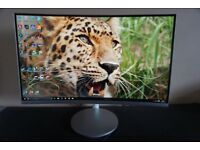 """SAMSUNG 27"""" Curved Monitor. Full HD. NEARLY BRAND NEW. Model C27F591"""