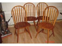 4 wood dining chairs for sale