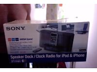 Sparingly used sony iphone dock for sale-black