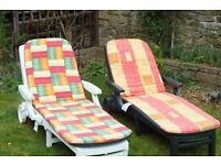 garden loungers (reduced for quick sale as moving) bargain