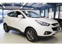 Hyundai ix35 CRDI SE NAV[1 OWNER / NAV / LEATHER] (creamy white) 2014