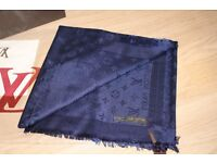 Luxury Louis Vuitton royal blue colour Scarf /Shawl - brand new